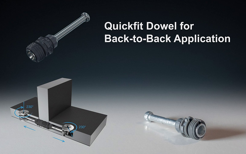 Titus Back-to-back Quickfit dowel
